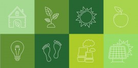 Eco line icons set