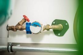 contador de agua instalado