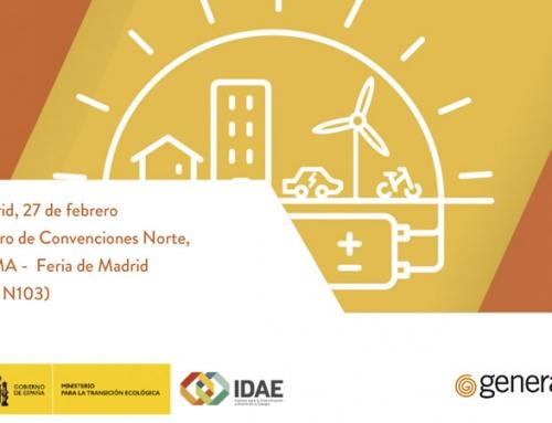 """Jornada Marco IDAE """"TRANSICIÓN ENERGÉTICA, ENTRE TODOS: El autoconsumo como clave del cambio"""""""