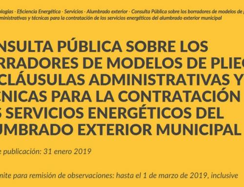 Los asociados de ANESE participan en la consulta pública sobre la nueva propuesta de contratos de servicios energéticos de edificios y alumbrado público