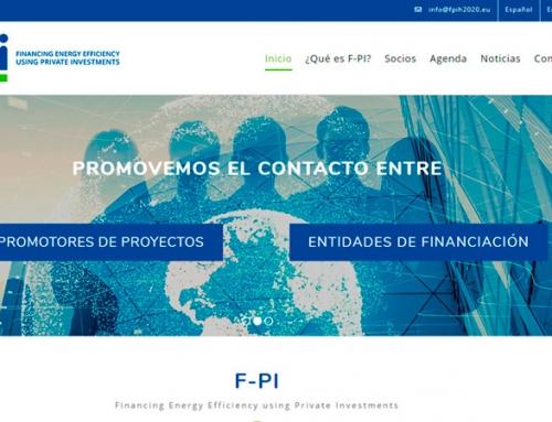 El proyecto F-PI de financiación de eficiencia energética con fondos privados estrena página web