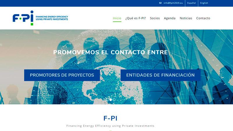 F-PI, el proyecto de financiación de proyectyos de eficiencia energética lanza su página web