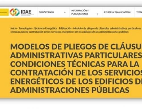 IDAE publica los modelos de pliegos de contrato de servicios energéticos para edificios públicos