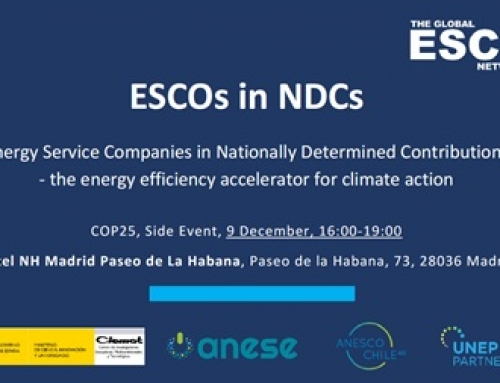 "ANESE co-organiza la jornada ""ESCOs and the Nationally Determined Contributions"" en el marco de la programación de la COP25"