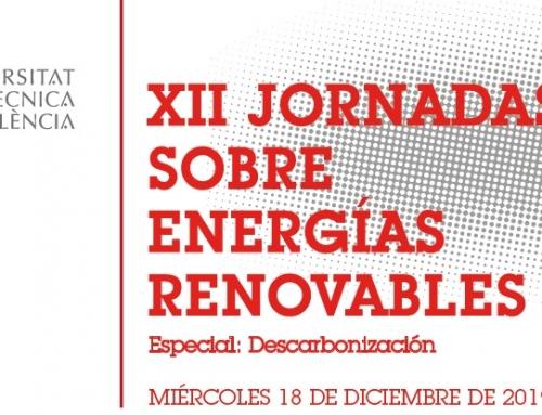 ANESE participa y colabora en las XII Jornadas de Energías Renovables, organizadas por la UPV (Universidad Politécnica de Valencia)