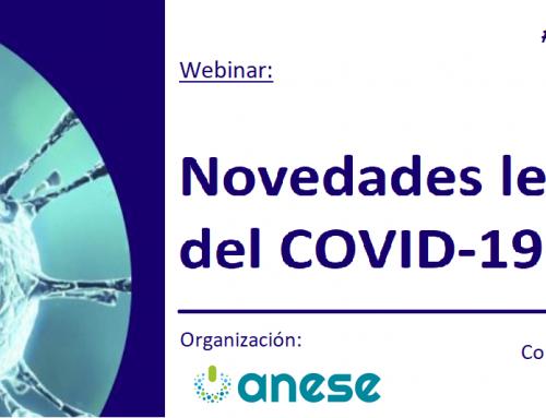 Webinar: Novedades Legislativas del COVID-19. ¡Apúntate ya!