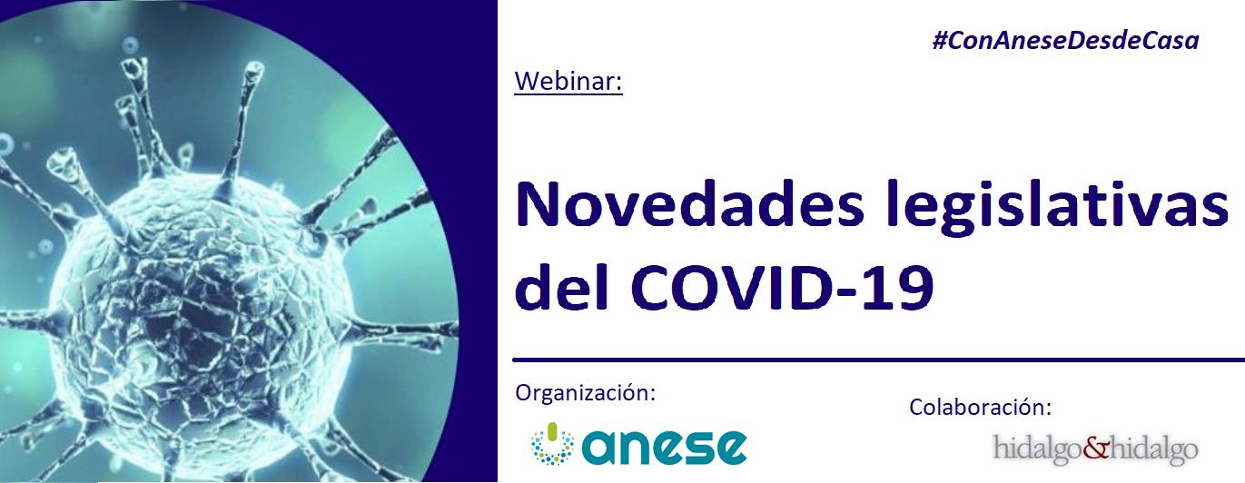 Webinar: Novedades legislativas del COVID-19