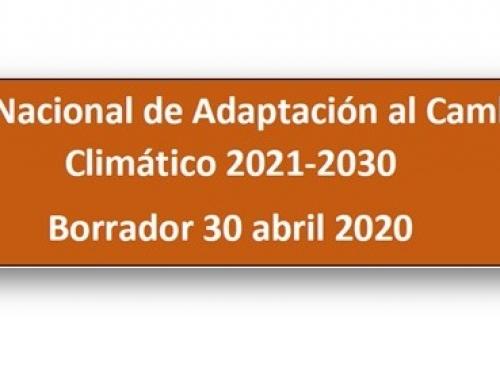 El MITECO publica el borrador del Plan Nacional de Adaptación al Cambio Climático (PNACC) 2021-2030 para construir un país más resiliente a los impactos del cambio climático