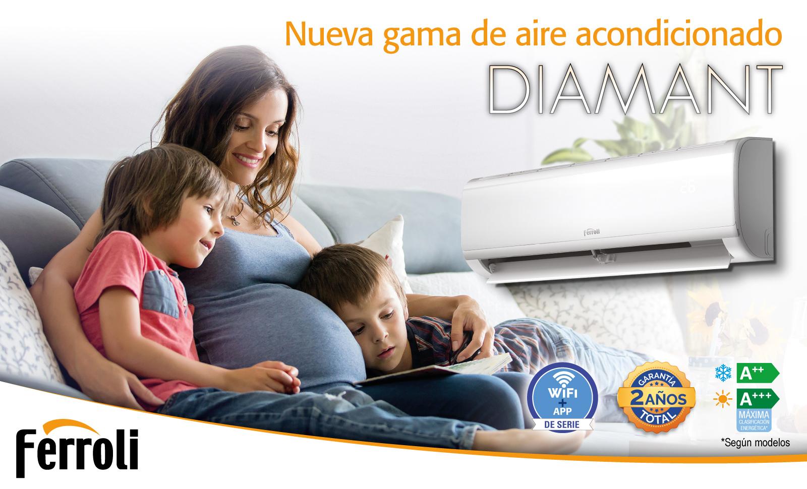 Ferroli lanza su nueva gama de aire acondicionado Diamant.
