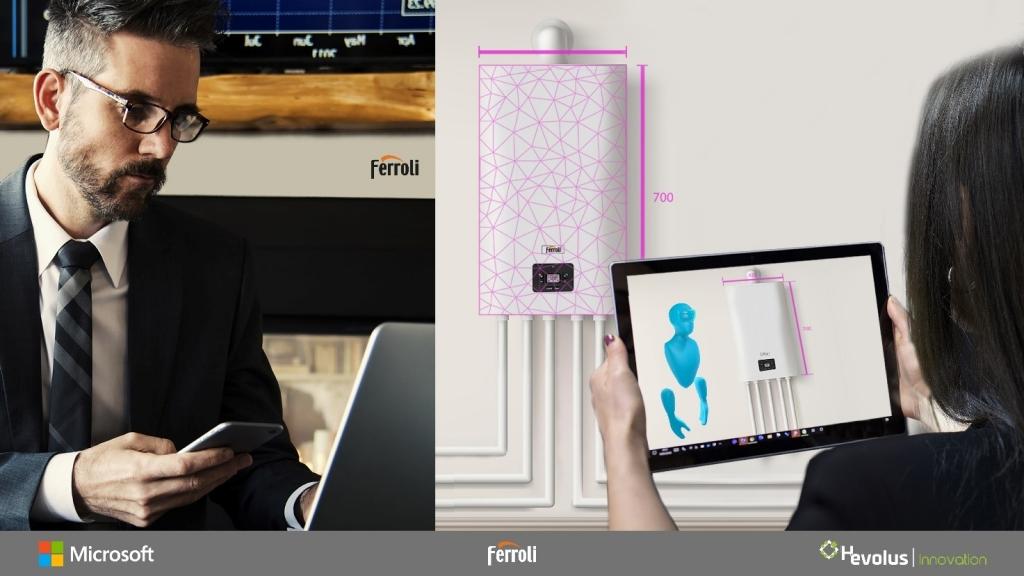 Ferroli se asocia con Microsoft y Hevolus: Cloud Computing y Realidad Mixta al servicio de instaladores y clientes para impulsar la innovación en el mundo del aire acondicionado y la calefacción