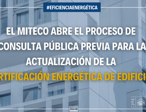 Abierto el proceso de consulta previa para la actualización de la certificación energética de edificios