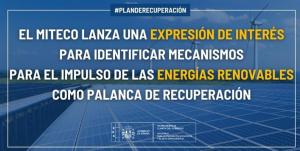 Manifestación de Interés de Proyectos de Energías Renovables y su integración en sectores e innovación