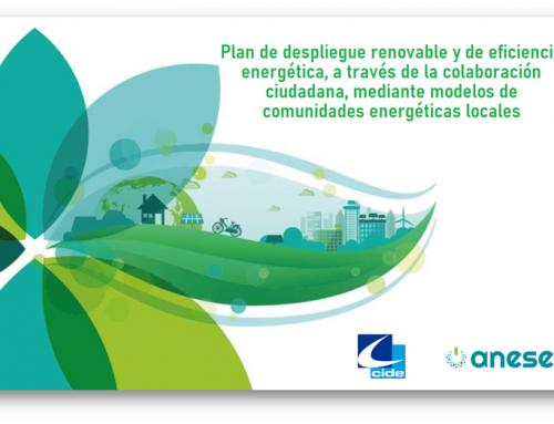 ANESE y CIDE definen un plan de integración de renovables y eficiencia energética a partir de comunidades energéticas locales