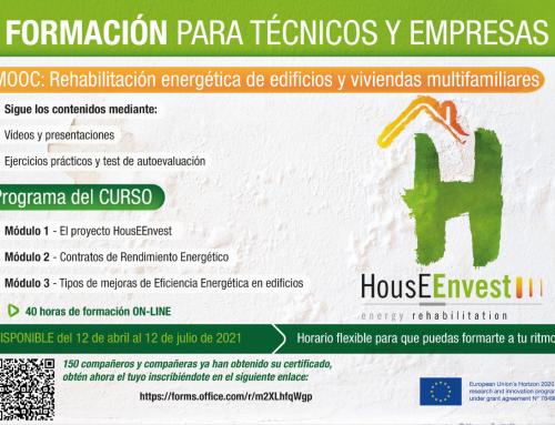 Formación para técnicos y empresas: «Rehabilitación energética de edificios y viviendas multifamiliares»