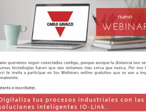 Carlo Gavazzi organiza un webinar sobre digitalización con IO-Link