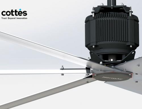Cottés distribuirá en España y Portugal los ventiladores HVLS de MacroAir