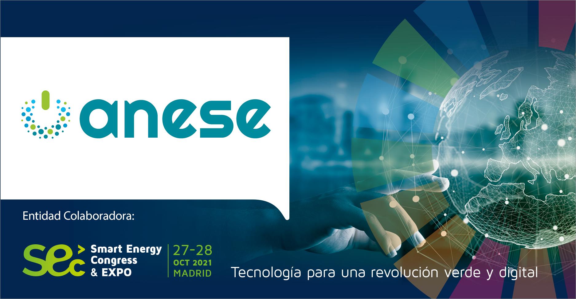 ANESE participa como entidad colaboradora en la IX Smart Energy Congress & EXPO 2021