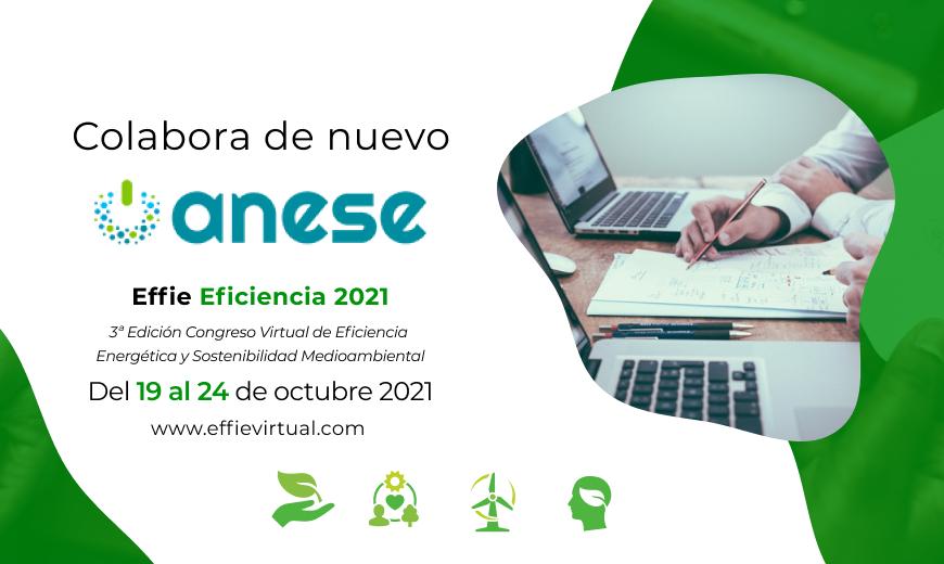 ANESE apoya la tercera edición del evento virtual Effie Eficiencia Energética 2021
