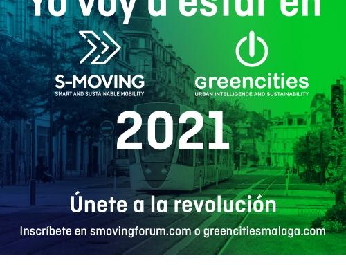 Greencities y S-MOVING 2021 reunirán a más de 70 ciudades españolas que están liderando el cambio hacia las urbes y la movilidad del futuro