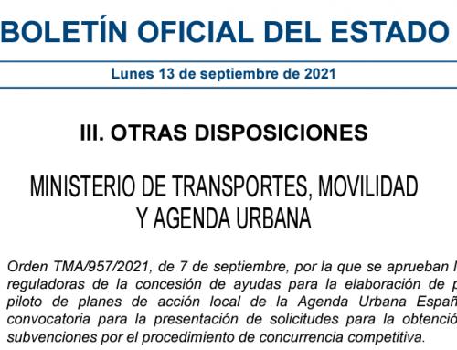 El MITMA aprueba ayudas para la elaboración de proyectos piloto de Planes de Acción Local de la Agenda Urbana Española